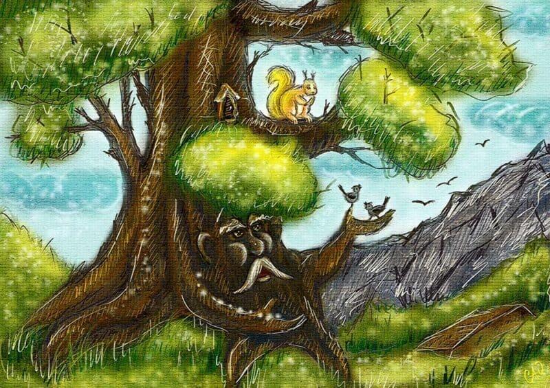 O hlídacím strašidle ve starém stromě